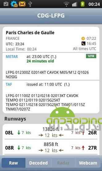 دانلود AeroWeather 1.78 نرم افزار هواشناسی حرفه ای برای اندروید 2