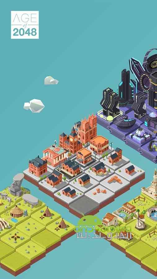 دانلود Age of 2048 1.3.0 بازی پازلی عصر 2048: ساخت شهر متمدن اندروید 1