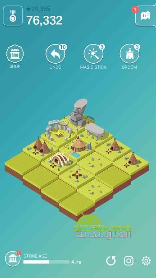 دانلود Age of 2048 1.3.0 بازی پازلی عصر 2048: ساخت شهر متمدن اندروید 3