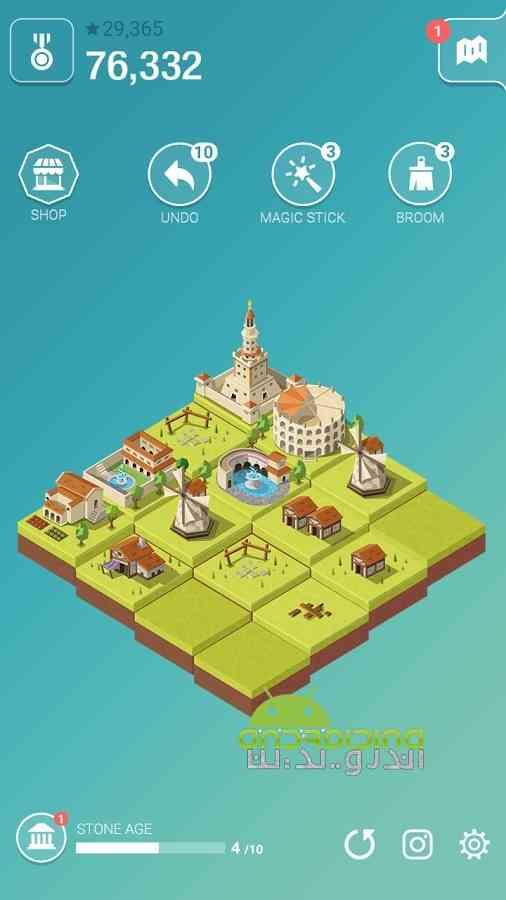 دانلود Age of 2048 1.3.0 بازی پازلی عصر 2048: ساخت شهر متمدن اندروید 4