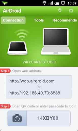 AirDroid نرم افزاری بسیار قدرتمند برای برقراری ارتباط بین Android و PC از طریق WiFi