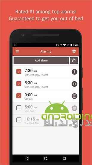 دانلود Alarmy (Sleep If U Can) – Pro 24.3 ساعت بیدار باش عالی برای اندروید 1