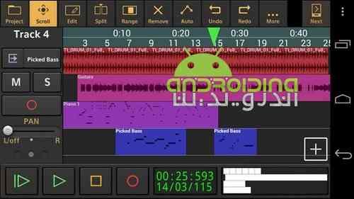 دانلود Audio Evolution Mobile Studio 4.4.3 ویرایش و ضبط حرفه ای صدا در اندروید 1