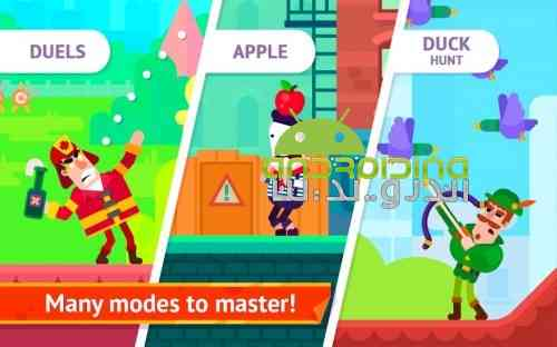 Bowmasters - بازی اکشن استاد کمان
