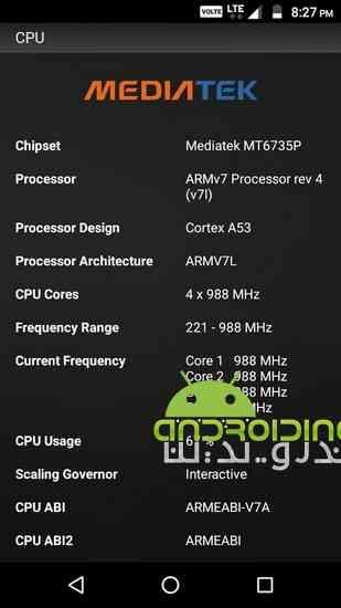 دانلود CPU Z 2.0 1.0 نمایش مشخصات سخت افزاری اسمارتفون اندرویدی 1