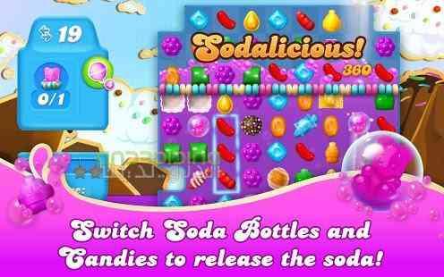دانلود Candy Crush Soda Saga 1.92.9 بازی شکستن آبنباته اندروید 1