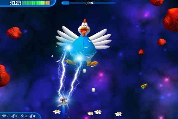 Chicken Invaders 3 Revenge of the Yolk - بازی بسیار زیبای مرغ های مهاجم فضایی