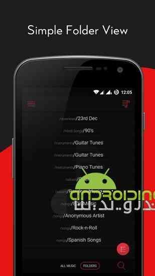 دانلود Crimson Music Player 2.3.1 موزیک پلیر زیبا برای اندروید 4