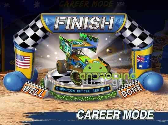 دانلود Dirt Trackin Sprint Cars 1.0.4 بازی سرعت بالا در خاک اندروید 4