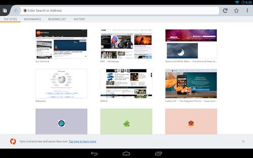 دانلود Firefox Browser for Android 56.0 مرورگر فایرفاکس اندروید 1