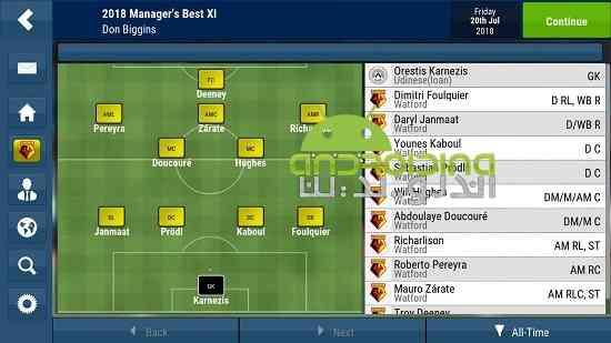 دانلود Football Manager Mobile 2018 9.0.1 بازی مدیر فوتبال 2018 اندروید 4