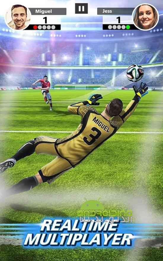 دانلود  Football Strike 1.1.0 بازی ورزشی ضربات فوتبالی اندروید 1