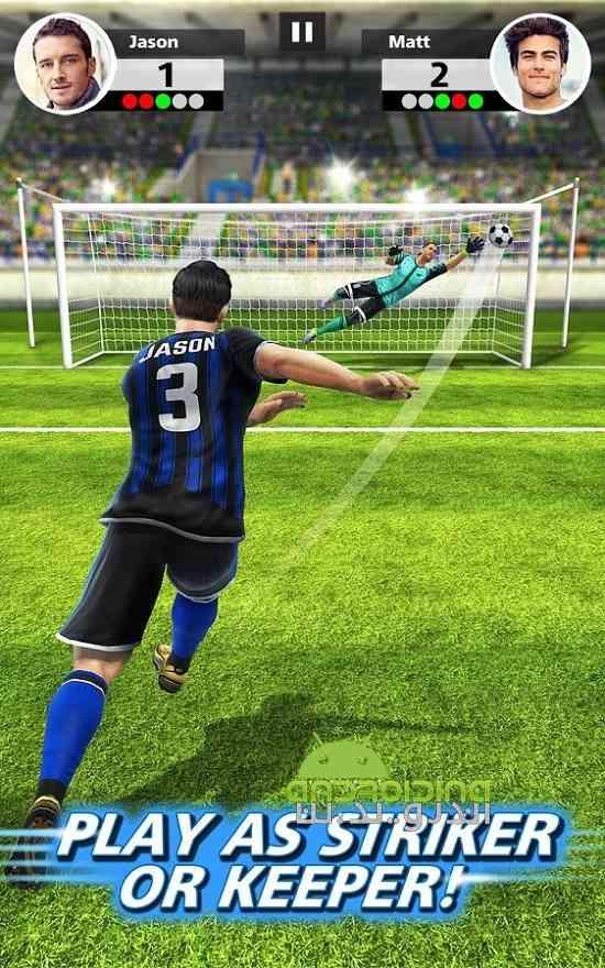 دانلود  Football Strike 1.1.0 بازی ورزشی ضربات فوتبالی اندروید 2