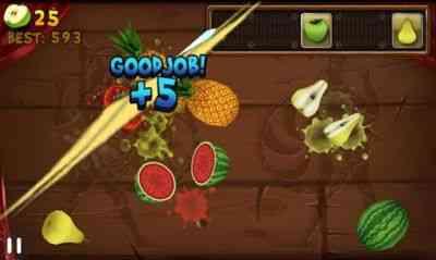 بازی جالب تکه کردن میوه ها Fruit Slice v1.3.8 1