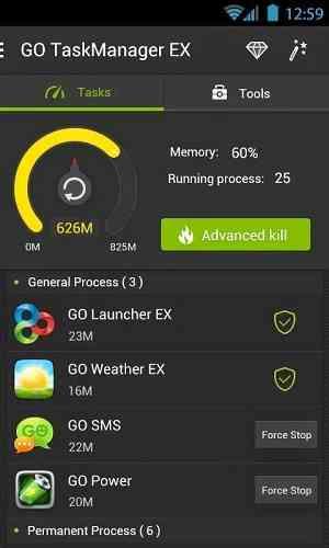دانلود GO Cleaner & Task Manager PRO v3.9 تسک منیجر