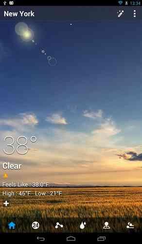 GO Weather Forecast & Widgets | برنامه مشاهده اب و هوا محصول کمپانی GO Dev