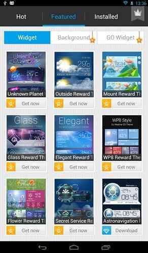 دانلود GO Weather Forecast 6.005 برنامه مشاهده اب و هوا اندروید 2