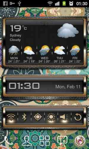 دانلود HD Golden Widgets v1.4 ویدجت های طلایی HD 1