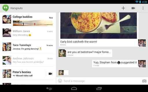 Hangouts   اپلیکیشن گوگل برای مکالمه صوتی و تصویری
