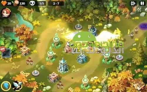 Hero Defense King - بازی استراتژی دفاع قهرمانان پادشاه
