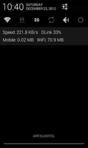 دانلود Internet Speed Meter 1.4.10 نمایش سرعت اینترنت 1