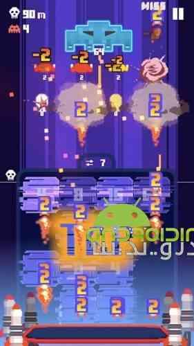 Invaders 2048 - بازی آرکید مهاجمان 2048