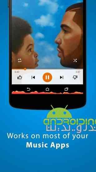 دانلود 3.0.3.1 MUVIZ Nav Bar Audio Visualizer نوار صوتی شناور زیبا برای اندروید 2