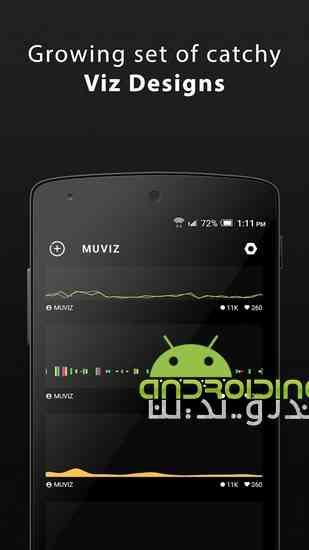دانلود 3.0.3.1 MUVIZ Nav Bar Audio Visualizer نوار صوتی شناور زیبا برای اندروید 4