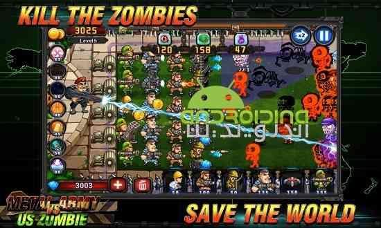 دانلود Metal Army vs US Zombie 2.0.1.2 بازی ارتش فلزی در برابر زامبی ها اندروید 3