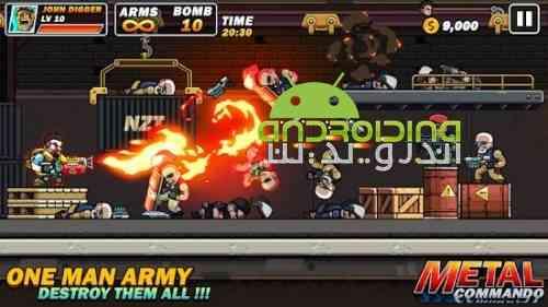 Metal Mercenary - 2D Platform Action Shooter - بازی مزدور فلزی