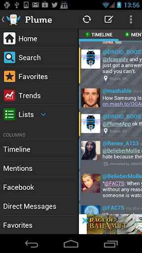 Plume Premium - ابزار رابط شبکه اجتماعی توییتر