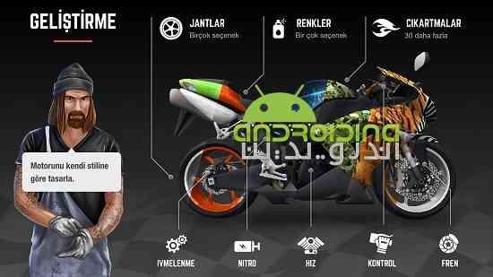 دانلود Racing Fever: Moto 1.2.7 بازی هیجان مسابقه: موتور اندروید 3
