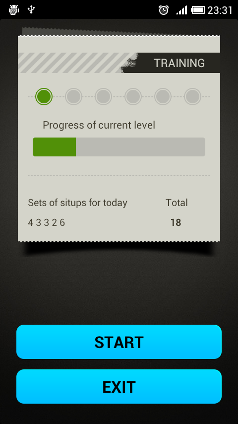 تمرین دراز نشست با SitUps pro 2.06 2