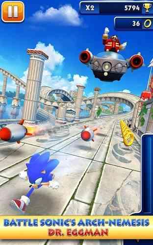 دانلود Sonic Dash v1.13.0.Go بازی خاطره انگیز سونیک