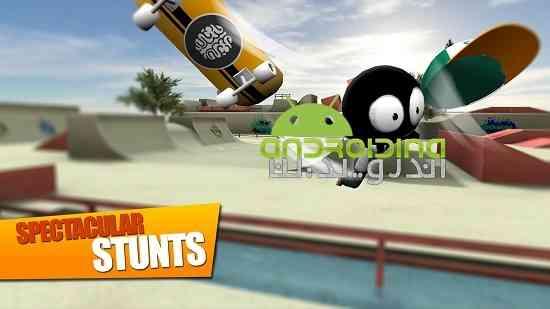 Stickman Skate Battle - بازی ورزشی نبرد اسکیتی استیکمن