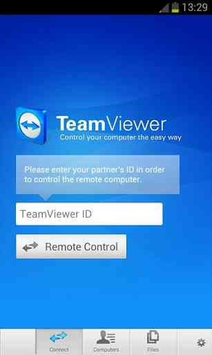 how to use teamviewer to connect to another computer