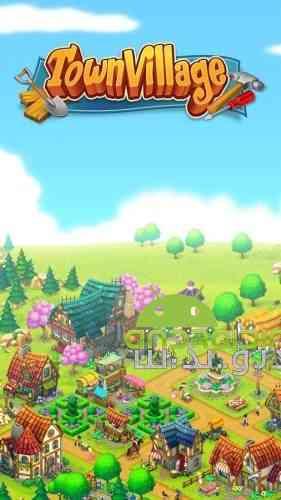 Town Village: Farm, Build, Trade, Harvest City - بازی سرگرم کننده شهر روستای