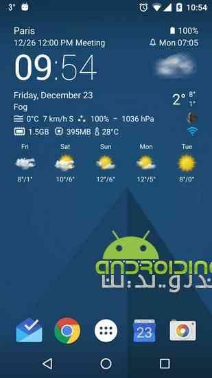 دانلود Transparent clock & weather Pro 0.99.11.16 نمایش ساعت و آب و هوا 1