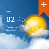 Transparent clock & weather Pro
