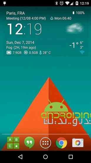 دانلود Transparent clock & weather Pro 0.99.12.02 نمایش ساعت و آب و هوا 2