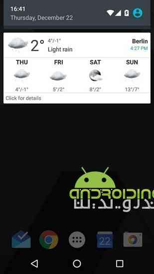 دانلود Transparent clock & weather Pro 0.99.12.02 نمایش ساعت و آب و هوا 3