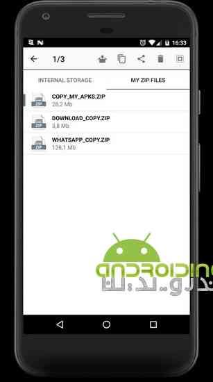 دانلود UNZIP & ZIP FILES PRO 1.3.2 مدیریت فایل های فشرده در اندروید 3