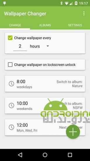 دانلود Wallpaper Changer 4.6.6 نرم افزار تغییر خودکار پس زمینه برای اندروید 1