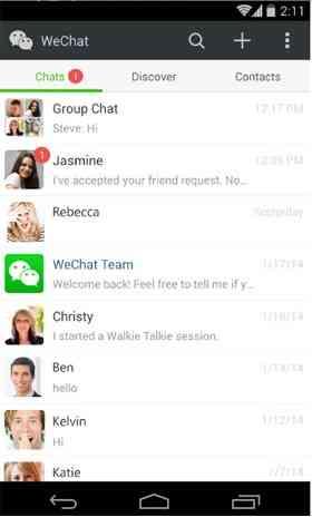 دانلود نرم افزار ویچت اندروید WeChat