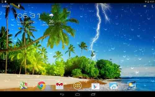 دانلود Weather Screen v3.2.0 تغییر پس زمینه با تغییر آب و هوا 2