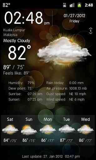 Weather Services PRO v1.5 Build 17 نمایش و پیش بینی وضعیت آب و هوا 1