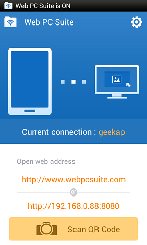 Web PC Suite - File Transfer | برنامه مدیریت اندروید