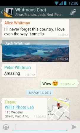 دانلود WhatsApp Messenger 2.11.385 مسنجر چند رسانه ای
