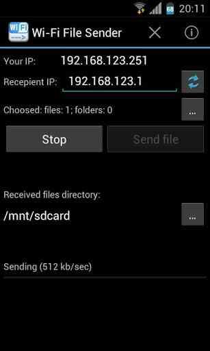 دانلود WiFi File Sender v4.8 برنامه ارسال فایل با وای فای