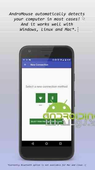 دانلود WiFi and Bluetooth Mouse 6.2 تبدیل اندروید به موس و کیبرد بیسیم 3